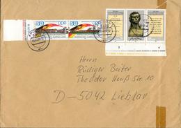 DDR Brief Mi. 3052 I Abart Abstrich Des R Kurz Fx73-2 - Errors And Oddities