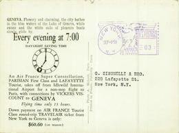 GENEVA - AIR FRANCE AIR LINE - PHOTO A. MEHEUX - 1950s (5897) - Avions