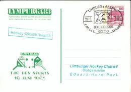 Germany BRD Ganzsachen Karte O Hockey 1983 PS Card Gg44 - Hockey (Field)