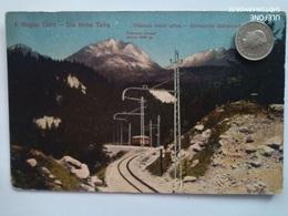 Hohe Tatra, Elektrische Bahnstrecke, Magas Tatra, 1918 - Slowakei