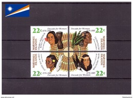 Îles Marshall 1985 - MNH** - Femmes - ONU - Michel Nr. 46-49 Série Complète (mhl136) - Marshall