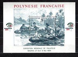 POLYNESIE   BLOC N°  9  NEUF AVEC CHARNIERE COTE  8.50€   EXPOSITION PHILATELIQUE - Blokken & Velletjes