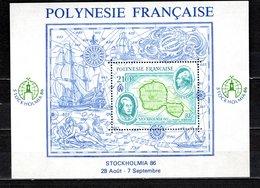 POLYNESIE   BLOC N°  12  NEUF SANS CHARNIERE COTE  5.50€  EXPOSITION PHILATELIQUE BATEAUX CARTE - Blokken & Velletjes