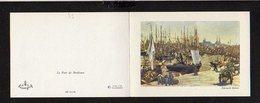 33 Le Port De Bordeaux / Oeuvre De Edouard Manet ( Carte  De Voeux Double ) - Bordeaux