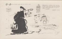 CPA Anticléricalisme Anti Cureton  Pasteur Prêtre Caricature Satirique Illustrateur  Jean METTEIX ? (2 Scans) - Christianity