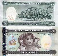 BILLET ÉRYTHRÉE  5 NAKFA - Erythrée
