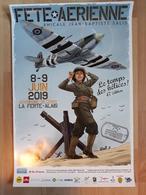 Affiche HUGAULT Romain Meeting Aérien La Ferté Alais 2019 (Angel Wings Le Grand Duc Aviation - Affiches & Offsets