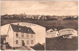 Gruss Aus SIMMERN B Koblenz Westerwald Wirtschaft & Bäckerei Jak. Wirges Gelaufen 9.4.1912 - Simmern