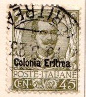 ERYTHREE (Colonie Italienne) - 1903-22 - N° 26 - 45 C. Olive - (Timbre D'Italie De 1901) - Eritrea