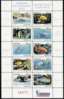 2006 Costa Rica Isla Del Coco National Park: Marine Life, Birds Minisheet (** / MNH / UMM) - Marine Life