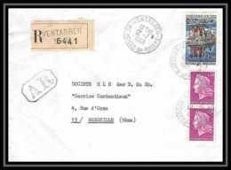 3396 Recommandé Lettre Bouches Du Rhone N°1586 Van 1968 Ventabren Pour Marseille - 1961-....