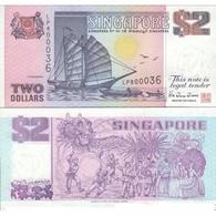 BILLET  SINGAPOUR 2 DOLLAR - Singapur