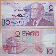 BILLET  MAROC 10 DIRHAMS - Maroc