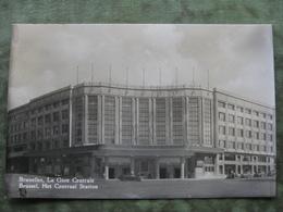 BRUXELLES - CARTE PHOTO - LA GARE CENTRALE 1954 - Belgique