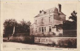 D23 - DOMEYROT - LA MAIRIE - L'ECOLE ET LE MONUMENT - Andere Gemeenten