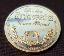 Die Schone Schweiz Unsere Heimat  - Thun (Silver) - Pièces écrasées (Elongated Coins)
