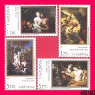 MOLDOVA 2019 Art Paintings Nudes From National Museum 4v Mi1123-1126 MNH - Moldavië