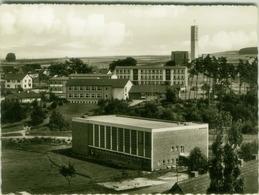 AK GERMANY - STADTALLENDORF - SPORT FESTHALLE - TEICHSCHULE KATH. - KIRCHE SANKT MICHAEL -FOTO G. DAHN - 1950s (5901) - Stadtallendorf