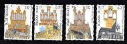 Belgie 2000 Mi Nr  2977 - 2980 ,  Muziek, Orgels, Organ - Belgium