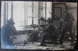 1910s Mexico Mexican Revolution Hotchkiss Machine Gun Live Actionphoto Postcard RPPC - Guerres - Autres