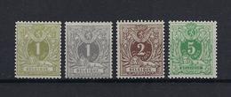 N°42/45 MNH ** POSTFRIS ZONDER SCHARNIER COB € 400,00 SUPERBE - 1869-1888 Lion Couché