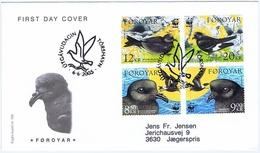 Faroe Islands 2005;  WWF Bird Issue; Set Of 4 On FDC (Foghs Cover) - Féroé (Iles)