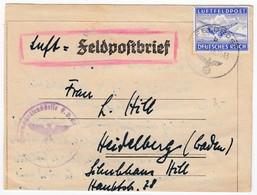 Germany Feldpost WW2  Airmail - Kompanie Infanterie-Regiment 102 Nr. 01068. 1943.11.26 Letter Inside #24879 - Allemagne