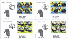 Faroe Islands 2005;  WWF Bird Issue; Set Of 4 In Block Of 4 On FDC (Foghs Cover) - Féroé (Iles)