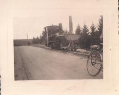 Foto Photo (8,5 X 10,5 Cm) Locomotief Locomotive Train Trein 1947 Barrage Eupen En Construction - Eupen