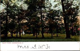 Ohio Zanesville Scene In Grant Park 1906 - Zanesville