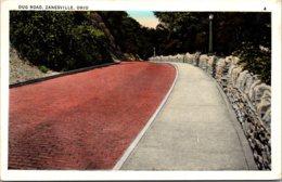 Ohio Zanesville Dug Road 1938 - Zanesville