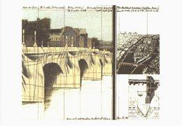 Paris - Pont Neuf  Wrapped Par Christo  - 2 Cartes - Ponti