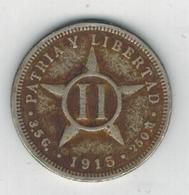 Cuba , 2 Centavos 1915, Used, See Scan - Cuba