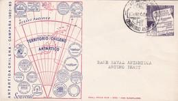 CHILE - ANTARTIDA CHILENA, CAMPAÑA 1962-1963. CIRCULATED ENVELOPE TO BASE NAVAL ANTARTICA ARTURO PRATT, IN 1964.-LILHU - Chile