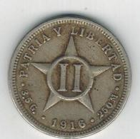 Cuba , 2 Centavos 1916,  Used, See Scan - Cuba
