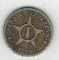 Cuba , 1 Centavo 1915 ,  Used, See Scan - Cuba