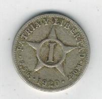 Cuba , 1 Centavo 1920 ,  Used, See Scan - Cuba
