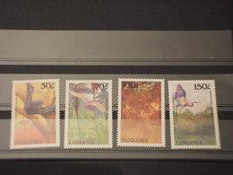 TANZANIA - 1989 FAUNA/FLORA 4 VALORI - NUOVI(++) - Tanzania (1964-...)