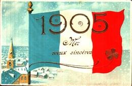 Année Date Millesime - 1905 - Drapeau Français Bleu Blanc Rouge Dorure - Nouvel An