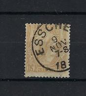 N°50 (ntz) GESTEMPELD Esschen COBA € 10,00 - 1884-1891 Leopold II.