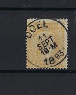 N°50 (ntz) GESTEMPELD Doel 1893 COBA € 10,00 - 1884-1891 Leopold II.