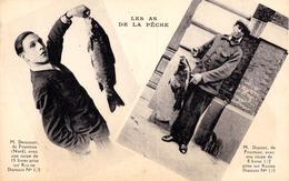 LES AS DE LA PÊCHE : M. DENICOURT De FOURMIES Avec UNE CARPE De 15 LIVRES... - LE FIL DIAMANT ~ 1930 (ad537) - Fourmies