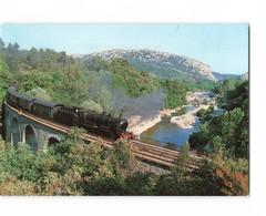 Train Chemin De Fer Ligne Anduze à Saint Jean Du Gard Viaduc De Mescladous Locomotive CPM - Trains
