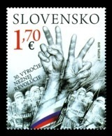 Slovakia 2019 Mih. 890 Velvet Revolution (joint Issue Slovakia-Czech Republic) MNH ** - Slowakische Republik
