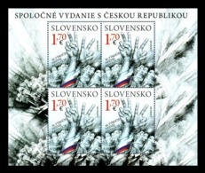 Slovakia 2019 Mih. 890 Velvet Revolution (M/S) (joint Issue Slovakia-Czech Republic) MNH ** - Unused Stamps