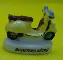Fève  - Scooters Rétro - Scooter  Jaune N° 6 -  Réf AFF 2011 20 - Fèves