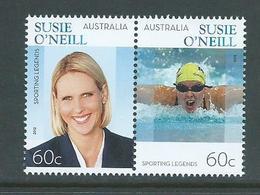 Australia 2012 Swimmer Susie O'Neill Joined Pair MNH - 2010-... Elizabeth II