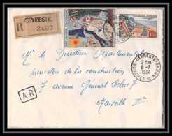 10934 Lettre Recommandé Cover Bouches Du Rhone N°1398 Chagall 1964 Ceyreste - Poststempel (Briefe)