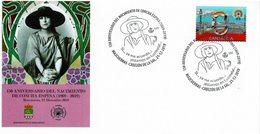 2019 SPAIN. Cover With Special Cancellation Female Writer Concha Espina. Mazcuerras, Cantabria. Feminist - 1931-Aujourd'hui: II. République - ....Juan Carlos I