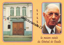 CPSM - LILLE - LA MAISON NATALE DU GÉNÉRAL DE GAULLE  (1890 - 1970) - Personajes
